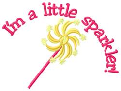 Im a Little Sparkler embroidery design