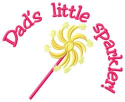 Dads Little Sparkler embroidery design