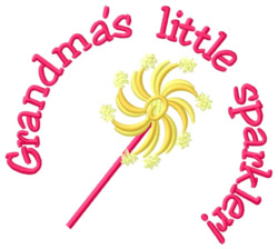 Grandmas Little Sparkler embroidery design