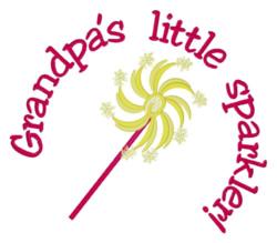 Grandpas Little Sparkler embroidery design