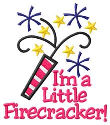Im a Little Firecracker embroidery design