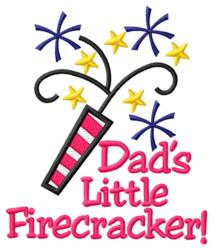 Dads Little Firecracker embroidery design