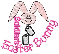 Soldiers Easter Bunny embroidery design