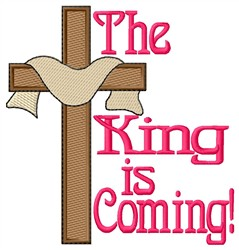 The King Is Coming embroidery design