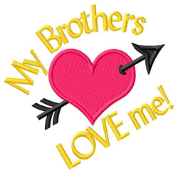 Brothers Love embroidery design
