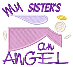Sisters An Angel embroidery design