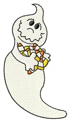 Ghost With Candy embroidery design