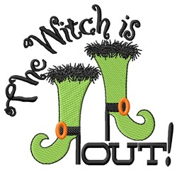 Witch Is Out! embroidery design