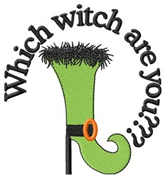 Halloween Witch Shoe embroidery design