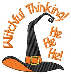 Witchful Thinking Halloween embroidery design