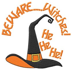 Beware..... Witches! embroidery design
