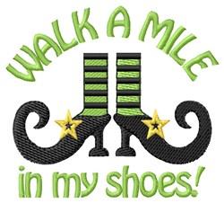 Walk embroidery design