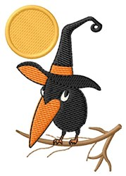 Witchy Crow embroidery design