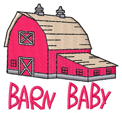 Barn Baby embroidery design