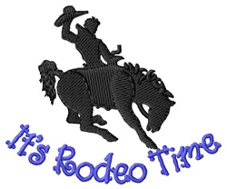 Its Rodeo Time embroidery design