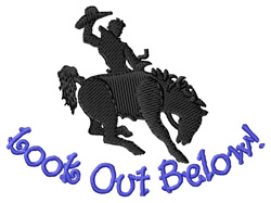 Look Out Below embroidery design