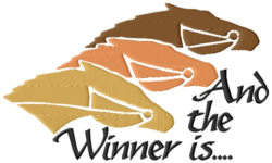 The Winner Is embroidery design