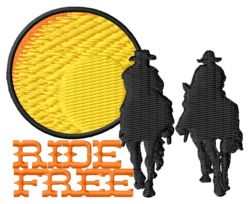 Ride Free embroidery design
