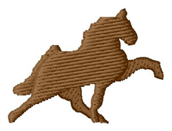 Small Walking Horse Silhouette embroidery design