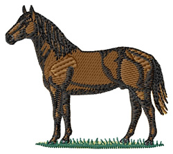 American Quarter Horse embroidery design