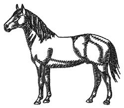 American Quarter Horse Silhouette embroidery design
