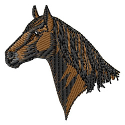 American Quarter Horse Head embroidery design