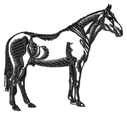 Anglo-Arab Silhouette embroidery design