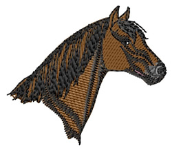 Barb Horse Head embroidery design