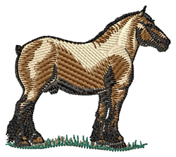 Brabant Horse embroidery design