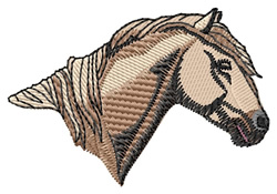 Carmargue Head embroidery design