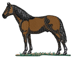 Cleveland Bay Horse embroidery design