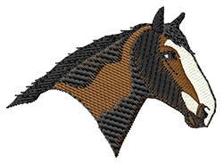 Clydesdale Head embroidery design