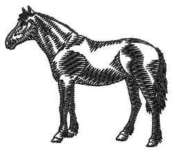 Criollo Silhouette embroidery design