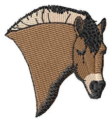 Fjord Pony Head embroidery design