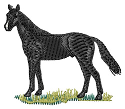 French Trotter Horse embroidery design