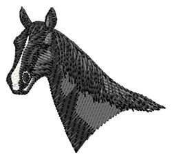 French Trotter Head embroidery design