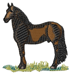 Friesian Horse embroidery design