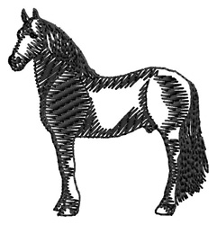 Friesian Silhouette embroidery design