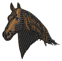 Friesian Head embroidery design