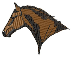 Hackney Horse Head embroidery design