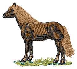 Haflinger embroidery design