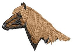 Haflinger Head embroidery design