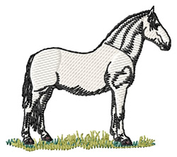 Lipizzaner embroidery design
