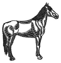 Maremma Horse Silhouette embroidery design