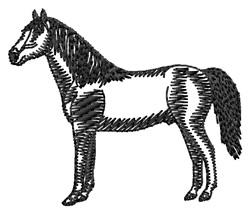 Morgan Silhouette embroidery design