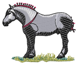 Percheron embroidery design
