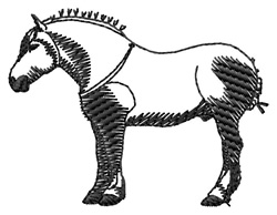 Percheron Silhouette embroidery design