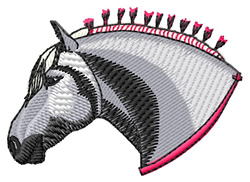 Percheron Head embroidery design