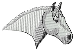 Percheron #2 Head embroidery design