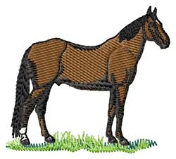 Standardbred embroidery design